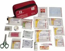 Red Fabric St Johns First Aid Travel First Aid Kit, Packaging Type: Bag