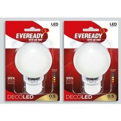 0.5 W Polycarbonate Eveready 0.5W Deco LED Bulb, Features: 95% Energy Saving, B22