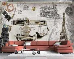 PVC Matte Car Wallpaper Design
