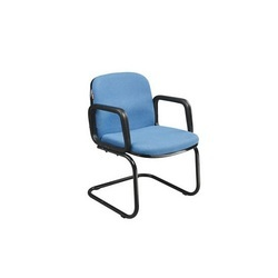Office Blue and Black Foldable Chair