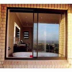 Modern Transparent Sliding Glass Door, For Home