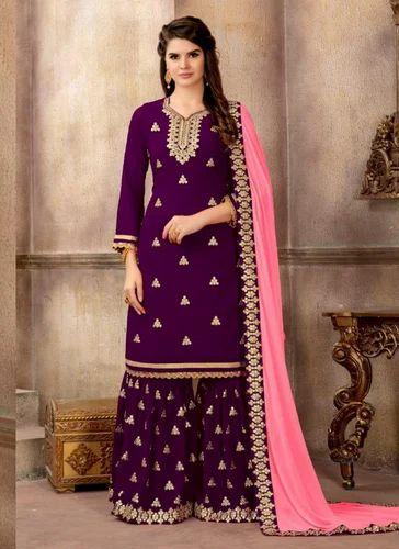 12c47c2efd Sharara Suits - Designer Sharara Salwar Suit Manufacturer from Surat