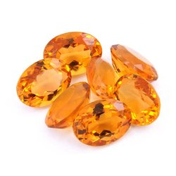 Citrine Quartz Oval Shape Faceted Cut Top Quality Loose Gemstone