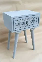 Wooden Brown side table, Number Of Drawer: 1, Size: L 16 X B 12 X H 23