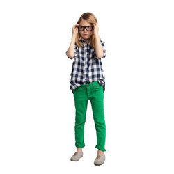 Green Denim Girl Kids Jeans