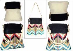 Printed Shoulder Bag Tapestry Adjustable Bag in Jacquard Fabric