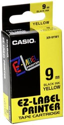 Casio XR-9YW Tape 9mm Black on Yellow