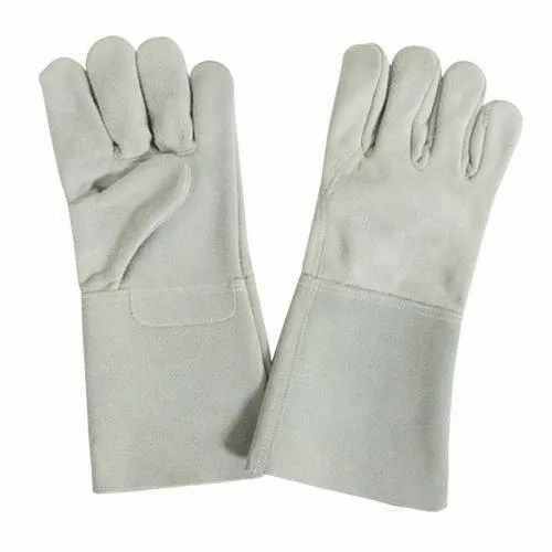 Unisex Grey Heavy Duty Construction Safety Hand Gloves, Size: Large
