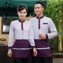 Cotton Unisex Full Sleeve Waiter Uniform, Size: Medium