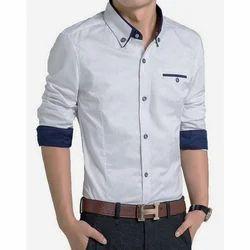 Cotton Men's Fashionable Shirt, Packaging Type: Box