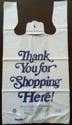 打印白色可生物降解的携带袋购物,容量:5千克
