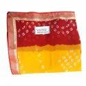 Ladies Bandhani Saree, With Blouse Piece, 5.5 M (separate Blouse Piece)