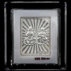 999 Silver Lakshmi Ganesh Frame