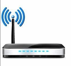 Black Single Antenna Wireless Router