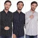 Fnx Men's Cotton Striped casual Shirt