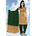 Green Bandhani Suit