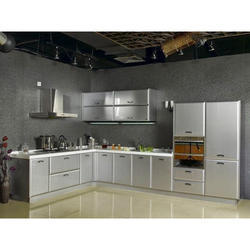 L Shape Stainless Steel Modular Kitchen