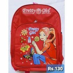 Polyester Kids Barbie Print School Bag, Capacity: 6 L