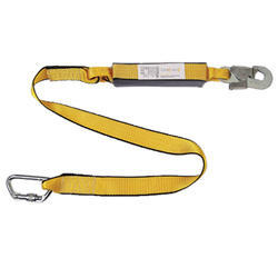 Kinetic Energy Absorbers With Webbing Lanyard