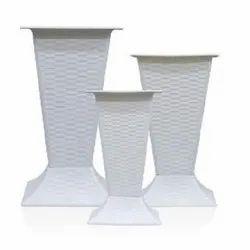 GP-A822 White Plastic Pot