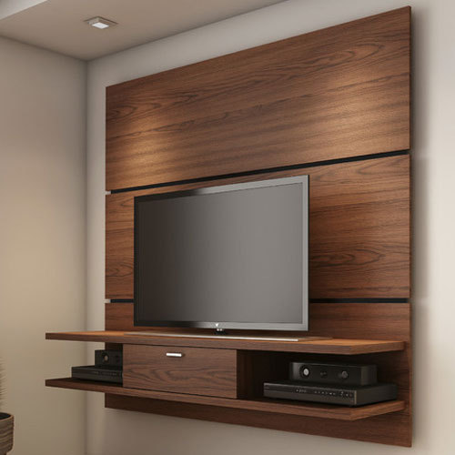 Brown Wall Mounted Tv Cabinet