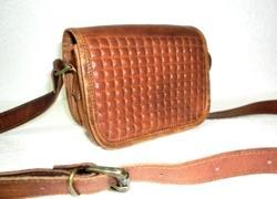 Mini Curve Leather Designer Saddle Bag