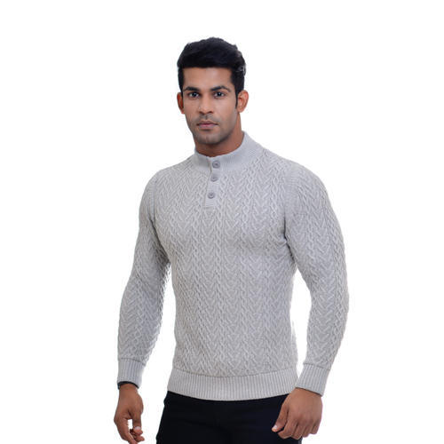 Men' s Woolen Knitted Pullover, Size: S to XXL