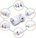 ROQ UNIVERSAL TRAVEL ADAPTOR ROUND