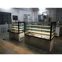 SS and Glass SS Cake Display Counter, Warranty: 1 Year