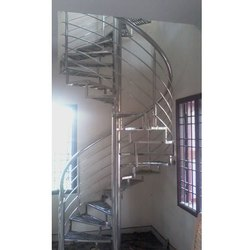 Stainless Steel 316 Spiral Staircase Railing