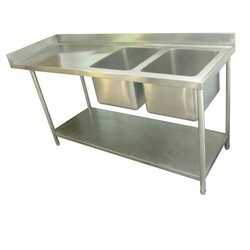 Double Bowl Sink Unit With Table