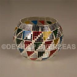 Round Mosaic Votive