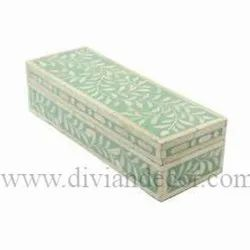 Floral Bone Inlay Pencil Box