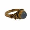 Handmade Gemstone Gold Plated Brass Ring