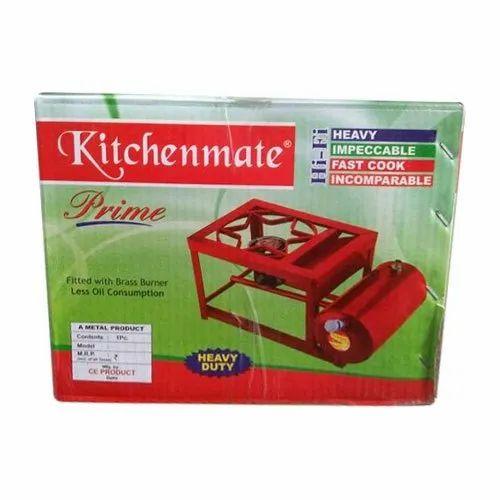 Red Stainless Steel Kitchenmate Kerosene Stove