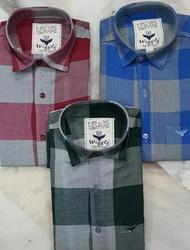 100% cotton twill check