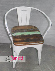 Jangid Art And Crafts Industrial Reclaimed Wooden Restaurant Chair