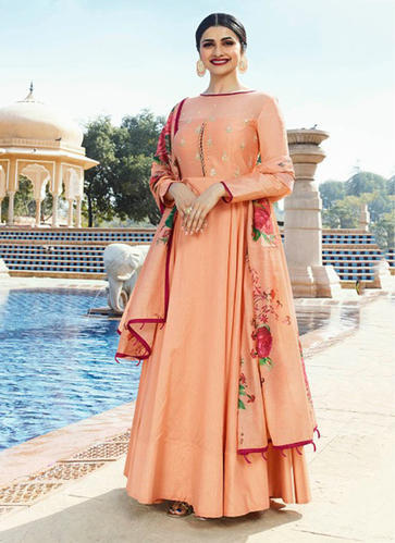 6e71af3349 Full Sleeves Silk Anarkali Suits, Size: XL, Rs 2255 /piece | ID ...