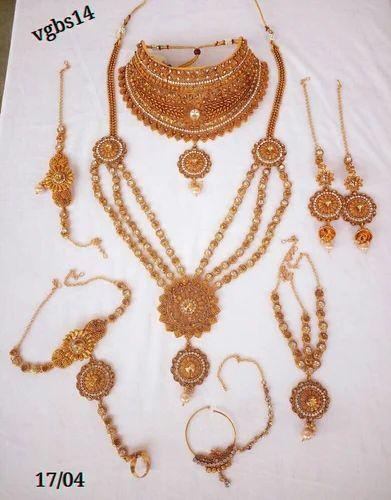 785e9a0098cf1 Bridal Necklace Set Women Wedding Fashion Jewelry Gold Plated Cz