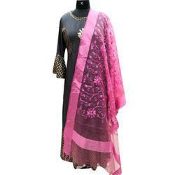 Designer Pink Embroidered Dupatta