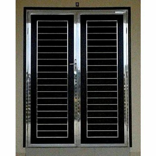 Stainless Steel Safety Door  sc 1 st  IndiaMART & Stainless Steel Safety Door SS Door - Karnataka Fabricators ...