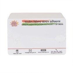 Preprinted Aadhar Cards, Dimension / Size: 3.3 X 2.1 Inch