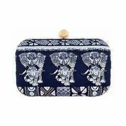 Azzra Women Designer Blue Zardosi Work Clutch