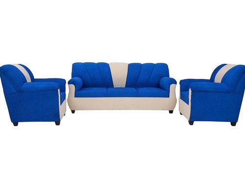 Wooden Blue White 3 1 Sofa Sets In, Blue Living Room Furniture