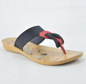 Casual Wear Printed 2405 Black And Red Ladies Slipper, Size: 4-8