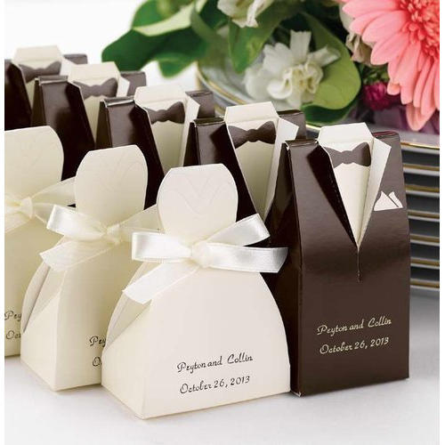 99313e5a537d Madonn Chhocolates White And Brown Wedding Favor Box