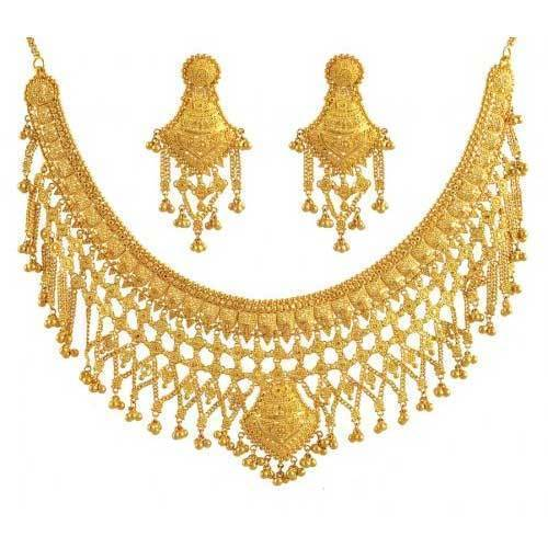 gold new necklace from manufacturer delhi bridal designer jewellery