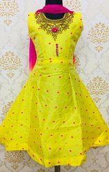 Beautiful yellow kids anarkali