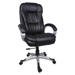 Mistry Brothers Black Revolving Office Chair, Size: Standerd