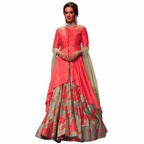8556441f8a Stitched Silk Party Wear Long Lehenga Choli, Rs 1370 /piece | ID ...